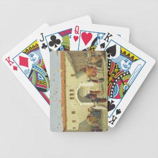 Caravanserai at Mylasa, Turkey, 1845 (oil on panel Bicycle Playing Cards