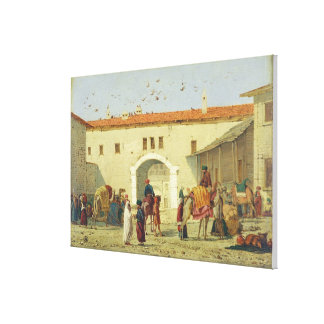 Caravanserai at Mylasa, Turkey, 1845 (oil on panel Canvas Print