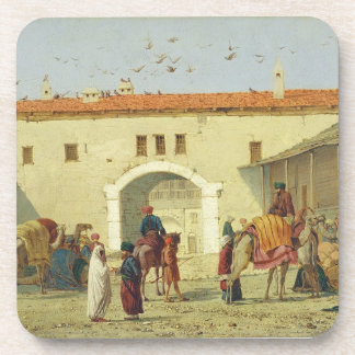 Caravanserai at Mylasa, Turkey, 1845 (oil on panel Coaster