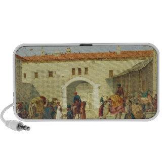 Caravanserai at Mylasa, Turkey, 1845 (oil on panel Portable Speakers