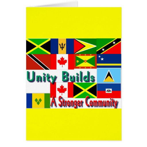Carbbean-canada unity greeting card