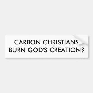 CARBON CHRISTIANSBURN GOD S CREATION BUMPER STICKER