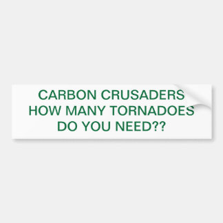CARBON CRUSADERS_TORNADOES BUMPER STICKER