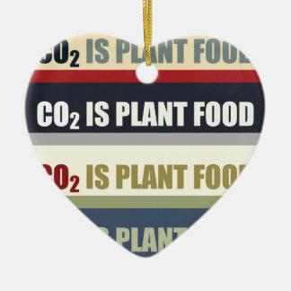 Carbon Dioxide Is Plant Food Ceramic Heart Decoration