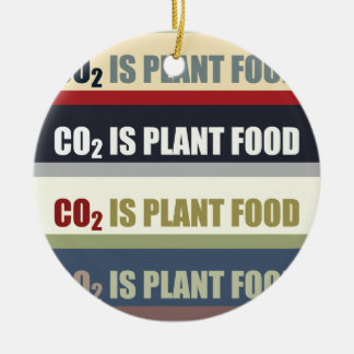 Carbon Dioxide Is Plant Food Round Ceramic Decoration