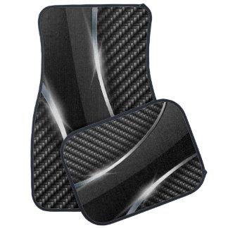 Carbon Fiber 3 Floor Mats Car Mat