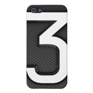 "Carbon Fiber ""3"" iphone 4 case"
