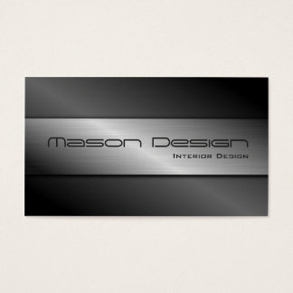 Carbon Fiber and Brushed Steel Business Card