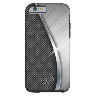 Carbon Fiber & Brushed Metal 4 Case Tough iPhone 6 Case