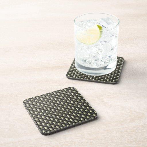 Carbon Fiber (Faux) Drink Coasters
