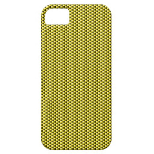 Carbon Fiber iPhone 5 Case (Yellow)