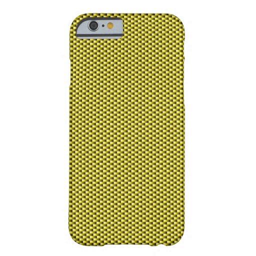 Carbon Fiber iPhone 6 case (Yellow)