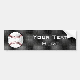Carbon Fiber look Baseball Car Bumper Sticker