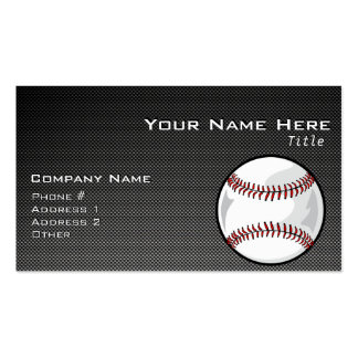 Carbon Fiber look Baseball Double-Sided Standard Business Cards (Pack Of 100)