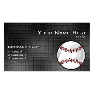 Carbon Fiber look Baseball Business Card