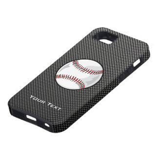 Carbon Fiber look Baseball Case For The iPhone 5