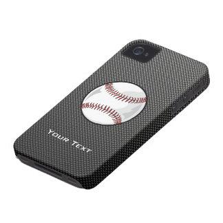 Carbon Fiber look Baseball iPhone 4 Covers