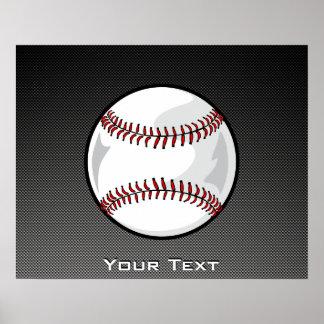 Carbon Fiber look Baseball Poster