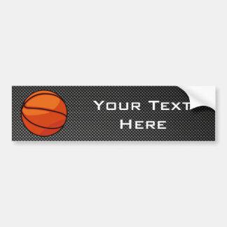Carbon Fiber look Basketball Bumper Stickers