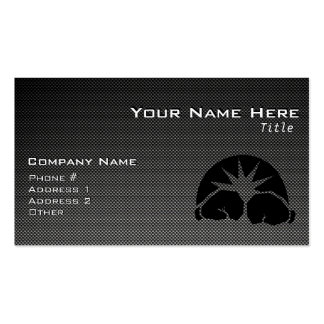 Carbon Fiber look Boxing Gloves Pack Of Standard Business Cards