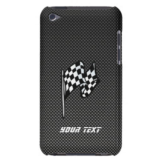 Carbon Fiber look Checkered Flag iPod Touch Cover