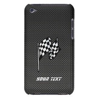 Carbon Fiber look Checkered Flag iPod Touch Covers