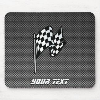 Carbon Fiber look Checkered Flag Mouse Mat