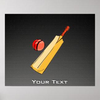 Carbon Fiber look Cricket Posters