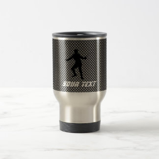 Carbon Fiber look Fencing Silhouette Travel Mug
