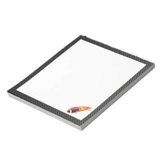 Carbon Fiber look Flaming Football Notepad