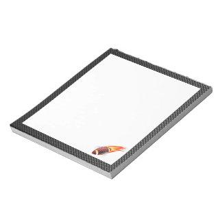 Carbon Fiber look Flaming Football Notepads