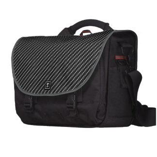 Carbon Fiber Look Laptop Messenger Bag