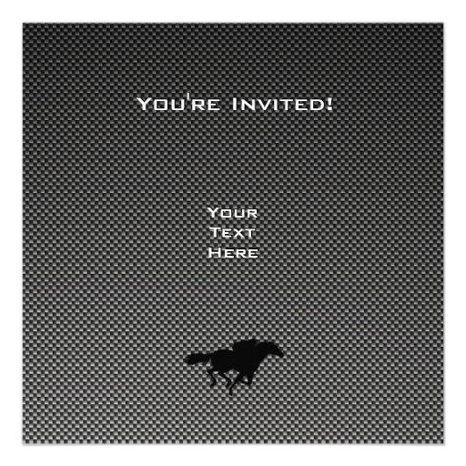 Carbon fiber look Nascar Invitations