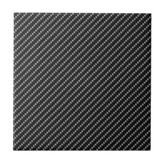 Carbon Fiber Look Small Square Tile
