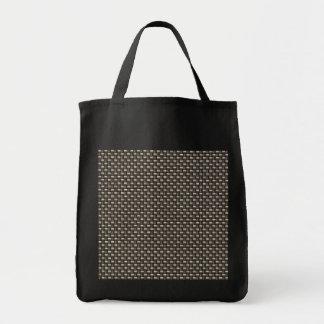 Carbon Fiber Pattern (Faux) Canvas Bags