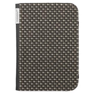 Carbon Fiber Pattern (Faux) Kindle Folio Cases