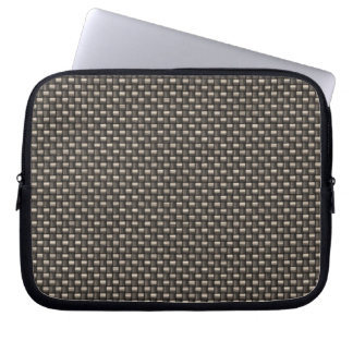 Carbon Fiber Pattern Faux Computer Sleeve