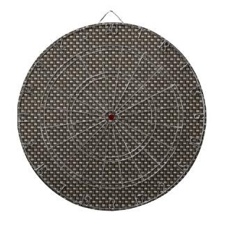 Carbon Fiber Pattern (Faux) Dartboard