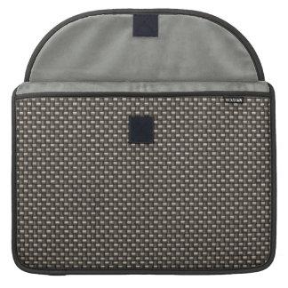 Carbon Fiber Pattern (Faux) MacBook Pro Sleeves