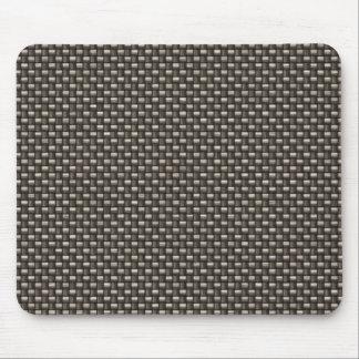 Carbon Fiber Pattern Faux Mouse Pad