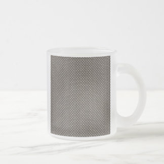 Carbon Fiber Pattern (Faux) 10 Oz Frosted Glass Coffee Mug