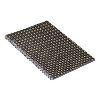 Carbon Fiber Pattern Faux Notebooks