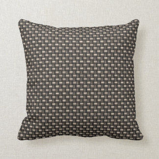 Carbon Fiber Pattern Faux Throw Pillow