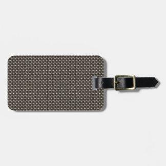 Carbon Fiber Pattern Faux Travel Bag Tag
