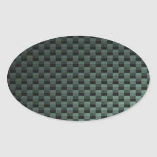Carbon Fiber Patterned Oval Sticker