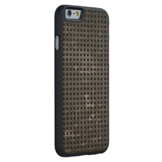 Carbon-fiber-reinforced polymer Grill Carved® Maple iPhone 6 Slim Case
