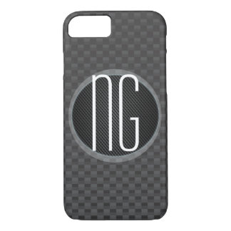 Carbon-fiber-reinforced polymer Monogram Initials iPhone 7 Case