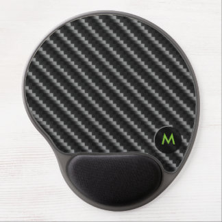 Carbon Fiber Style with Monogram Gel Mouse Mat