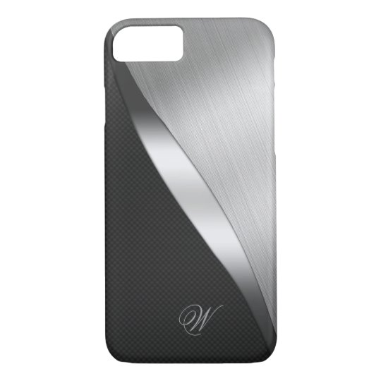 Carbon Fibre and Brushed Metal iPhone 8/7 Case