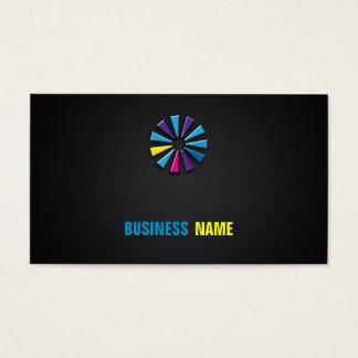 Carbon Fibre Effect Logo Business Card
